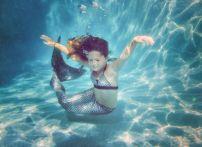 Хвост русалки для плавания + купальник, голубая лагуна